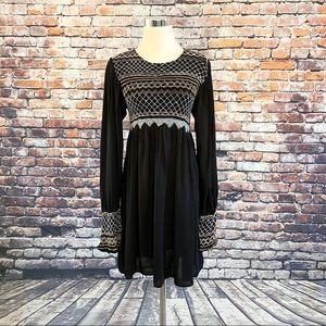 FP Black Dress Late Night Picnic Long Sleeve